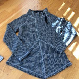 Prana Mattea herringbone sweater size medium gray